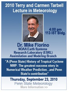 Mike Fiorino Tarbell Lecture Announcement