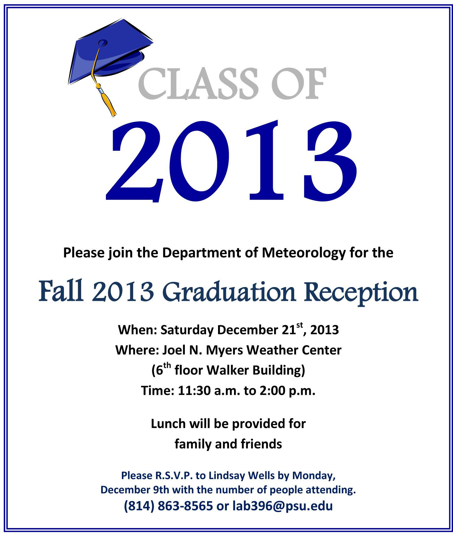2013 December Graduation Reception