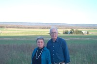 Dennis and Joan Thomson on their farm in Moon Twp.
